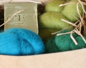 Felt Soap Kit - Green Tea and Olive Oil Soap