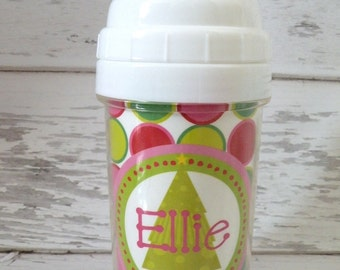 Christmas infant spill proof sippy cup - personalized sippy cup - monogrammed sippy cup - child's christmas gift - christmas tree design