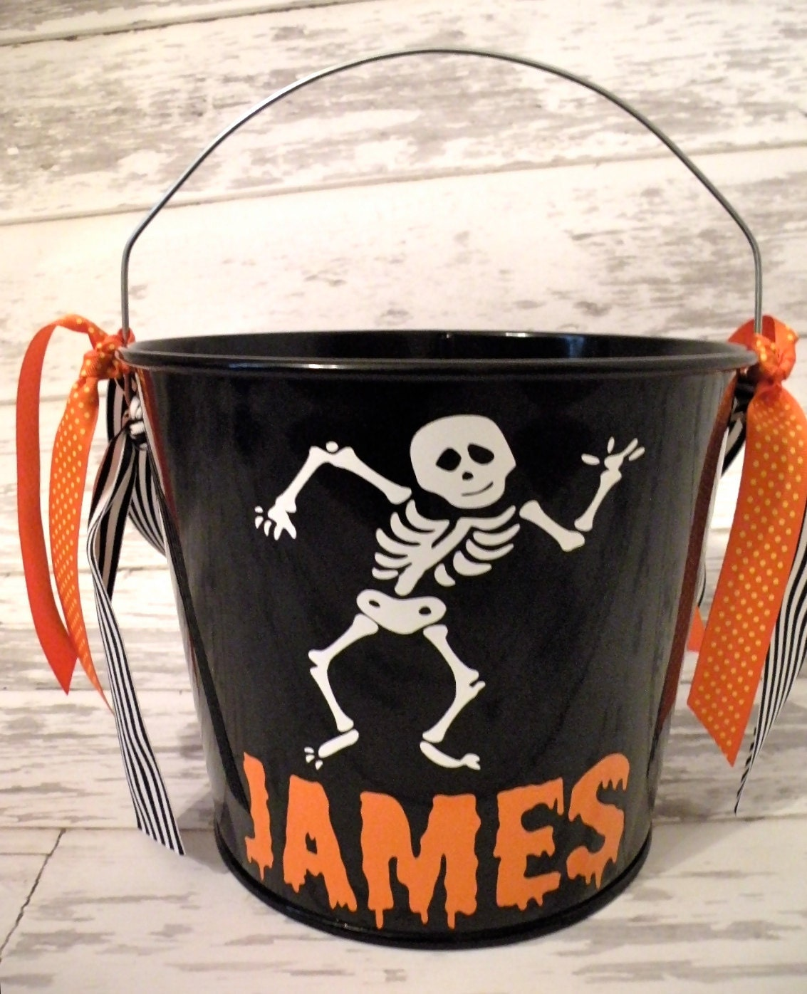 Personalized 5 Quart Halloween Bucket More Designs Available