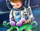 Limited Edition Space Kid ACEO by Bryan Collins