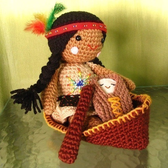 ... similar to Amigurumi Native American Doll Crochet Pattern on Etsy