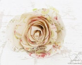 Valentine Handmade  Flower Cotton Fabric Flower Bloom Brooch Shabby