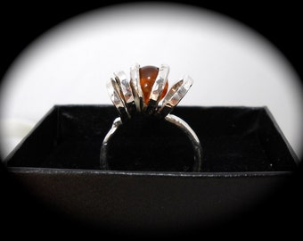 Twisted Amber Ring size 8 1/2