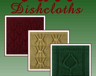 PDF FALL Dishcloths Pattern Collection, set of 3 patterns, from our Seasonal Dishcloth Series