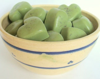 Wake Up and Smell the Mint Soap,  Heart Shaped,  Peppermint Scented, Guest Size Soap, Thank You Favor, Wedding Shower Favor, Individual Soap