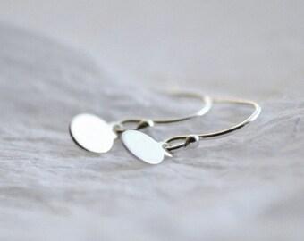 Dot earrings - silver earrings - sterling silver earrings - simple earrings - minimalist jewelry - delicate jewelry - Sterling dot