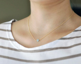 Mint green star - tiny star necklace - light green star - seafoam star necklace -  delicate gold necklace - delicate gold jewelry