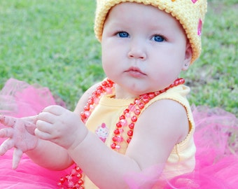 CUSTOM ORDER Little Pink Princess Crown Hat for Infant and Toddlers Photo Prop Birthday Dress Up Party