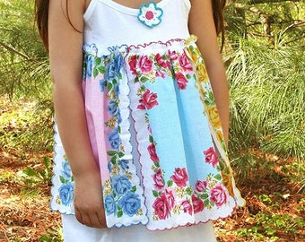 Shabby Hankie Rose Dress Custom 2T to 8 Sweet