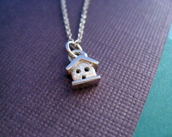 Teeny House Necklace Sterling Silver