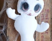 Stuffed Plush Animal Halloween Ghost White Pillow Boo