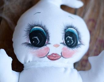 Stuffed Plush Animal Halloween Ghost White Pillow Boo