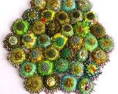 A Yo-Yo Textile: Garden Greens