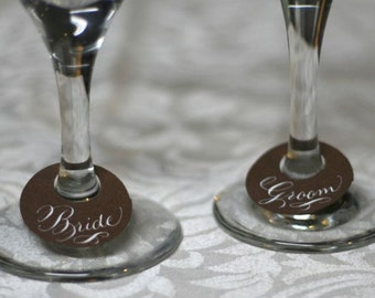 Wine Glass Tags - First name place cards