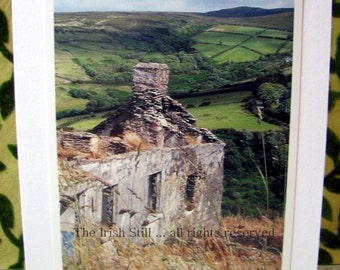 Irish photo card ...Ruin with a View