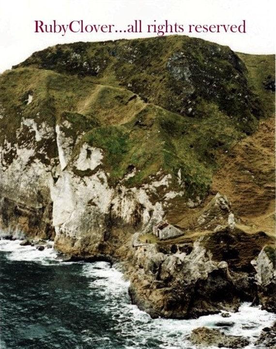 Kenbane Cottage, Co. Antrim, NORTHERN IRELAND, Irish Landscape Photography, Norn Iron, Dramatic Sea, North Coast,Seaside Cliffs,Celtic Decor