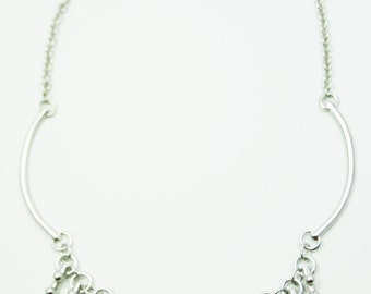 Short Keys Fringe Necklace