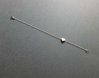 just a little love bracelet | sterling silver charm bracelet | heart bracelet | gift for her