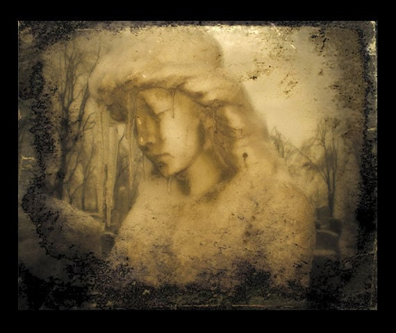 Winter Earth Angel - Vintage Style Photo