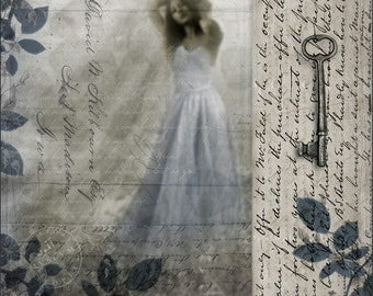 Kept Memories, 8x8 or 10x10 Inch Print, Romantic fine art print