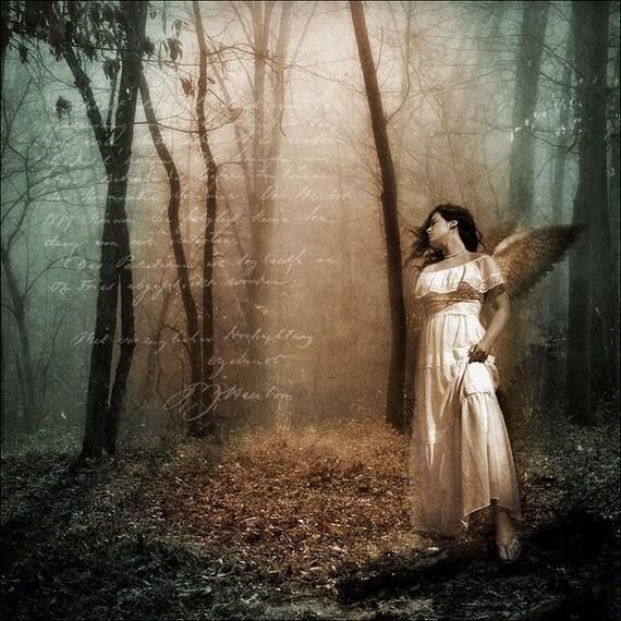 Angel Art Print, Sorrow, 5x5 Print