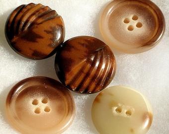SaLe Art Deco Buttons Vintage Celluloid Estate Olde Carved 30s 40s 50s Tortoise Tans Antique Lot Lucite 2 Sets 2 Matching Coat Jacket Shank