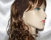 Brown Gold Striped Design Headband Bandana Head Covering