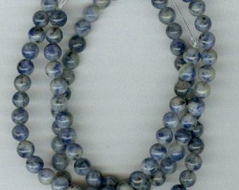 4mm Denim Lapis Round Beads - Full Strand