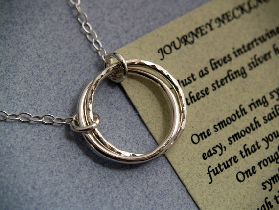JOURNEY NECKLACE with Poem - Sterling Silver - Graduation Necklace - Next Step in Life - Gift Boxed