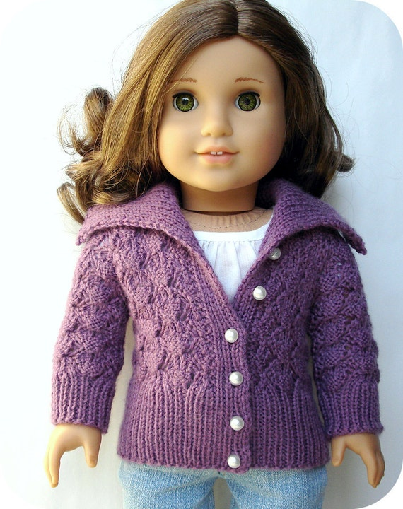 "Print Heavy Knit Sweater for 18/"" Doll Clothes American Girl"