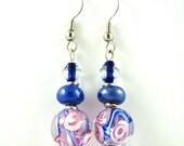 Glass Bead Earrings, Long Earrings, Teen Earrings, Handmade Earrings, Flower Earrings, Beaded Dangle Earrings, Womens Earrings, Earings