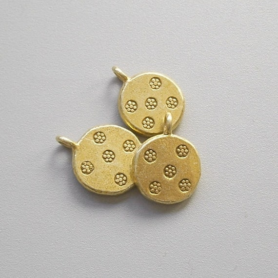 Thai Hill Tribe Gold Charm, gold plated over fine silver