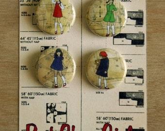 Red Shoe Girls badges (set 1)