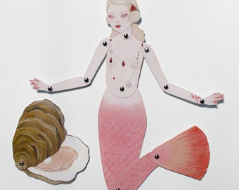 Fig. 1 Lost Pearl - articulated paper doll print