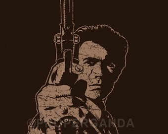 Dirty Harry t-shirt - By Any Means Necessary - Clint Eastwood (all sizes)