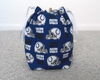MOVING SALE - Indianapolis Colts Drawstring Knitting Project Bag