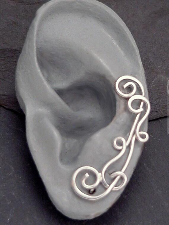 Silver VINES EAR PINS Earrings - Sterling Handcrafted Ear Sweeps Earrings