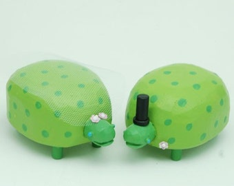 Turtle Wedding Cake Toppers | Gay Wedding Cake Toppers | Custom Wedding Cake Toppers | Forest Cake Topper | Custom Turtle Wedding