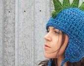 Dragon Hat in Deep End Blue - Grown Up Cosplay, Dinosaur Hat, Pretend