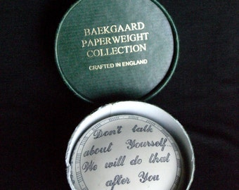 Baekgaard Paperweight Collection . crafted in Great Britain