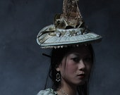 The Shien - 18th Century Masquerade Hat with Gilded Ship - As Seen on MTV