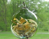 Invitation Announcement Inside Hand Blown Glass Ornament by Jenn Goodale