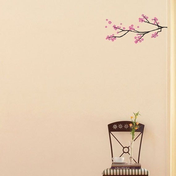 small blossom branch vinyl decal