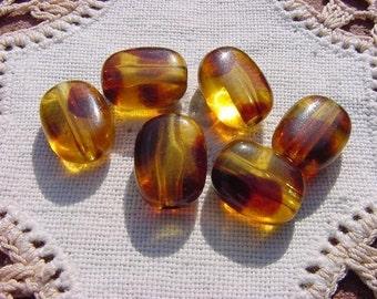 Plump Tortoiseshell Pillows Vintage Lucite Beads