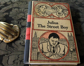 Horatio Alger Julius Street Boy Handbound Concertina Journal