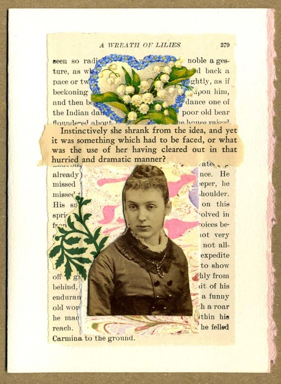 Wreath of Lilies ... Collage Greeting Card