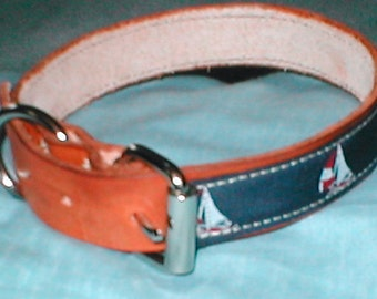 Leather Nautical Dog Collar