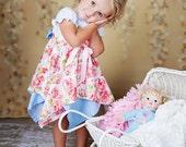 Girls Dress PDF Sewing Pattern - Handkerchief Dress Pattern - by Tie Dye Diva