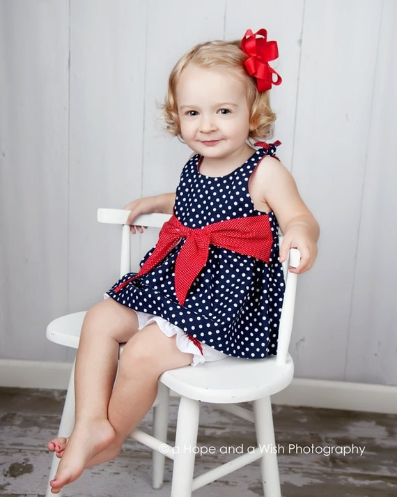 Sewing Pattern PDF - Baby Jumper Dress and Top Pattern with Big Sash Bow