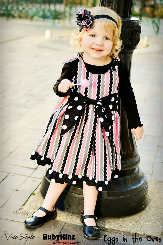 girls jumper dress pattern with big bow sash pdf by tiedyediva